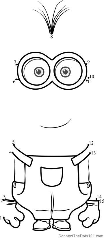 minion kevin coloring pages kevin dot to dot printable worksheet connect the dots minion kevin coloring pages