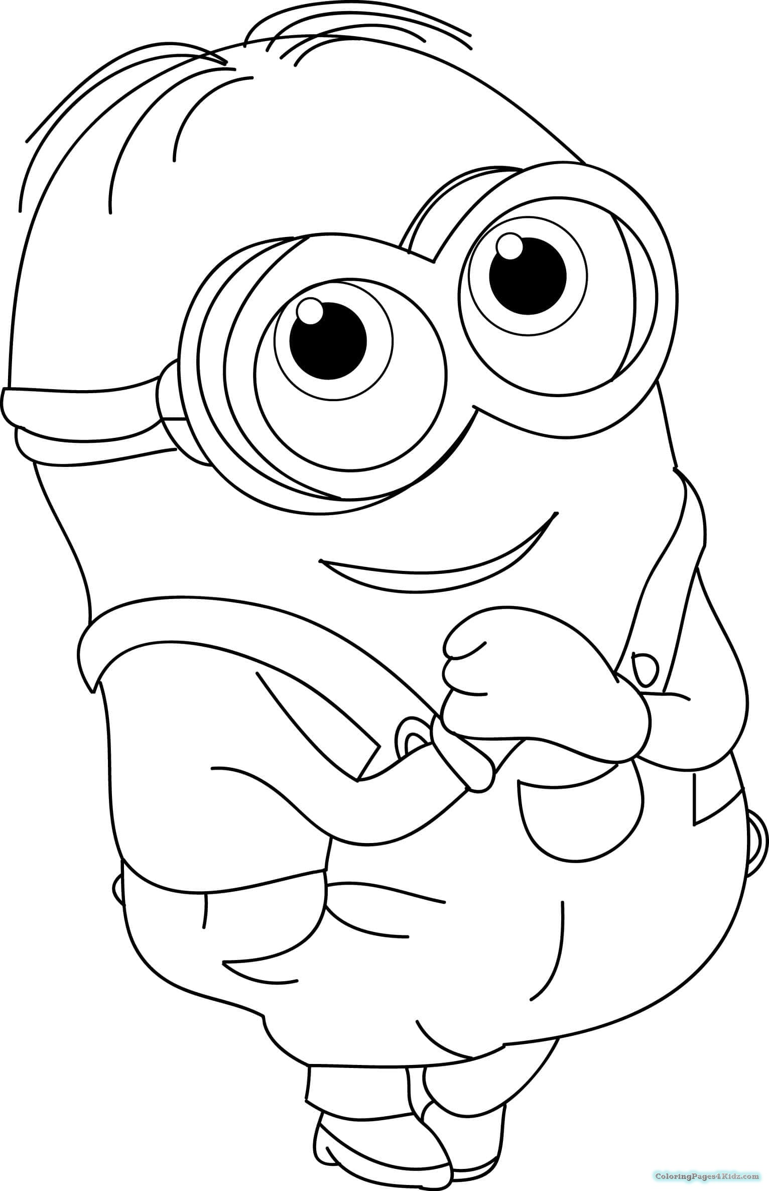 minion kevin coloring pages kevin the minion drawing at getdrawingscom free for kevin pages minion coloring