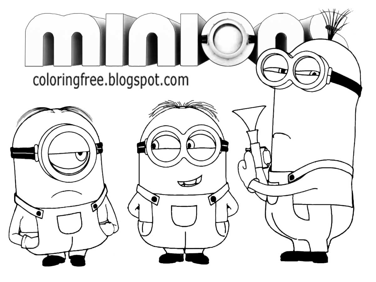 minion printable minion coloring pages best coloring pages for kids minion printable 1 2