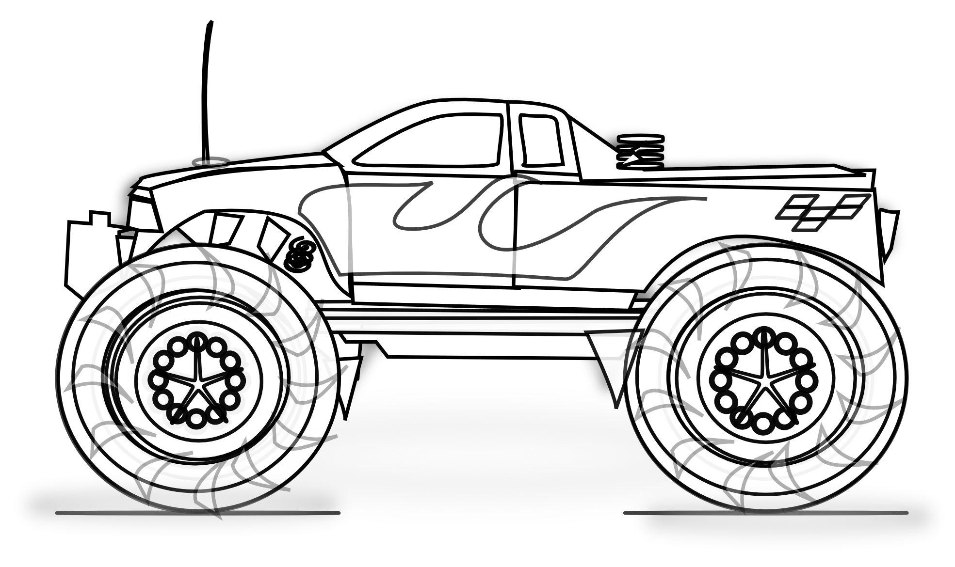 monster truck coloring pages to print bigfoot monster truck coloring page free coloring pages coloring truck to print pages monster