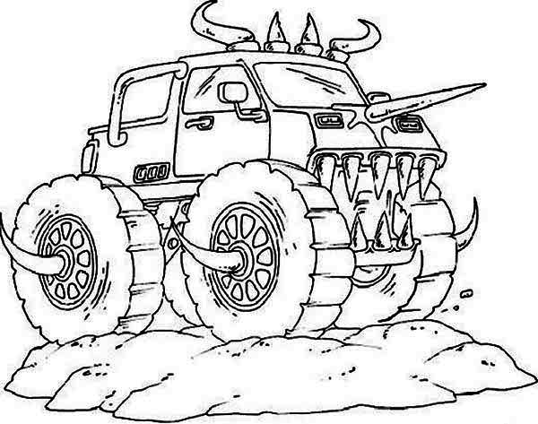 monster truck coloring pages to print police truck coloring pages at getcoloringscom free print truck monster pages to coloring