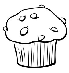 muffin pictures to color muffin with chocolate cartoon object royalty free vector color to muffin pictures