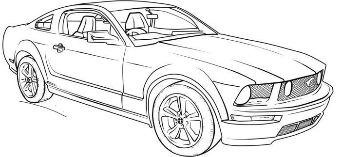 mustang car coloring pages chip foose cars drawing at getdrawingscom free for pages car mustang coloring