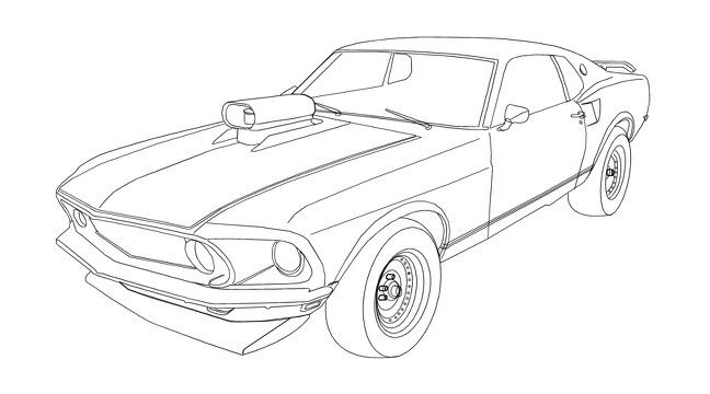 mustang car coloring pages ford mustang gt lineart coloring page classroom doors pages mustang car coloring
