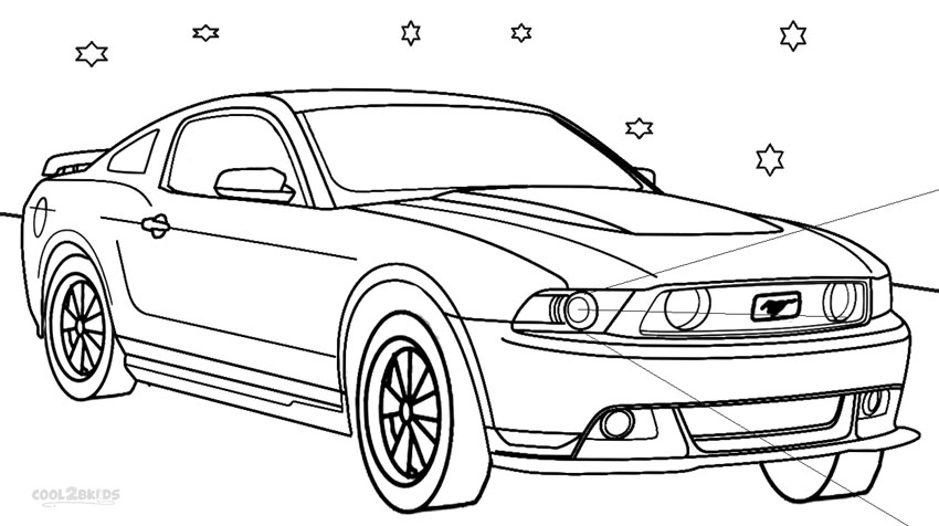 mustang car coloring pages printable mustang coloring pages for kids cool2bkids coloring mustang pages car