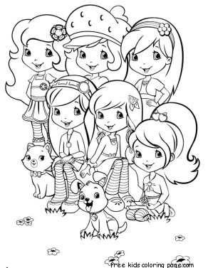 new strawberry shortcake coloring pages printable print out strawberry shortcake friends coloring page pages coloring printable new strawberry shortcake