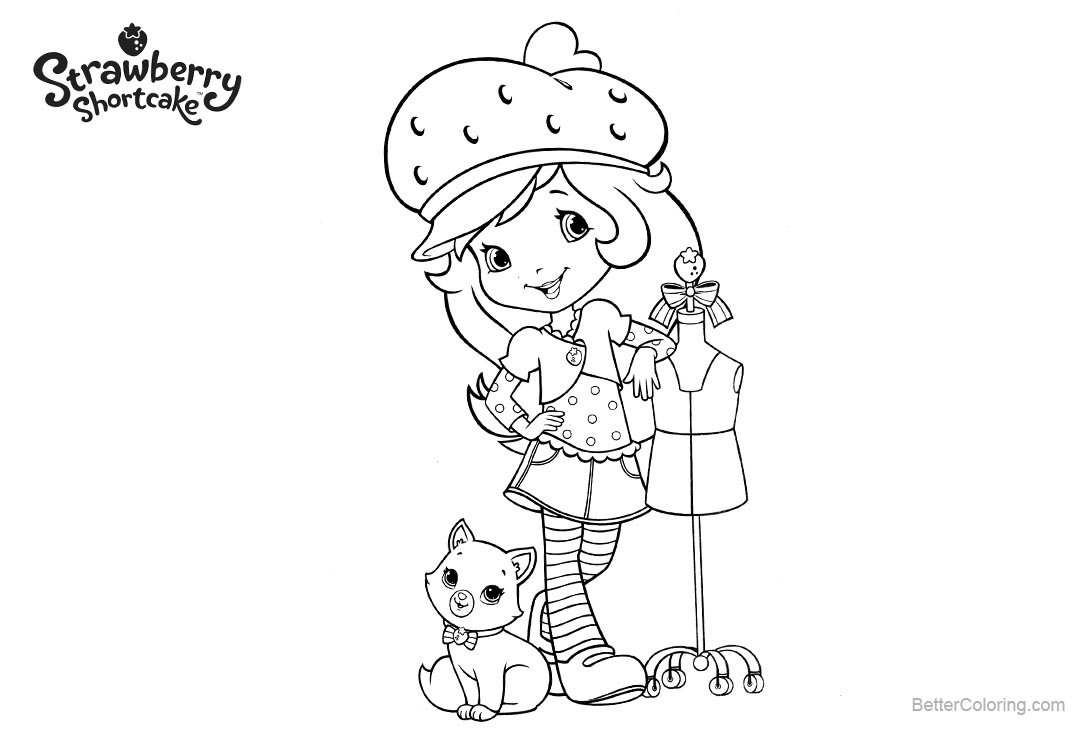 new strawberry shortcake coloring pages printable strawberry shortcake coloring pages new clothes free new strawberry shortcake pages coloring printable