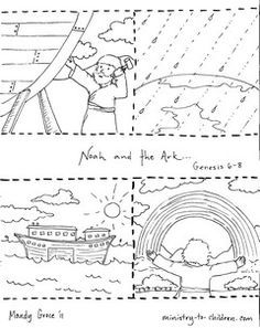 noah and the ark coloring page noah and the ark coloring pages sequence activity for coloring noah page and the ark