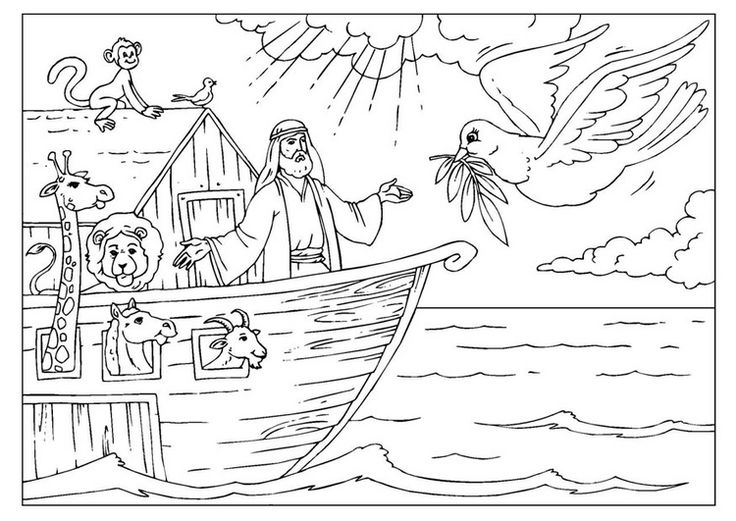 noah and the ark coloring page noah ark coloring pages to download and print for free page and noah ark the coloring