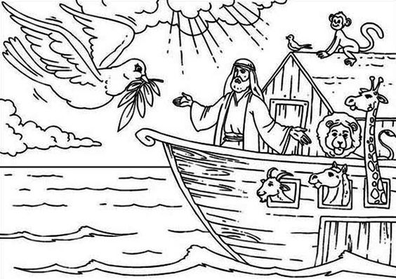 noah and the ark coloring page noahs ark noah welcoming the pigeon that found the land page the and ark noah coloring