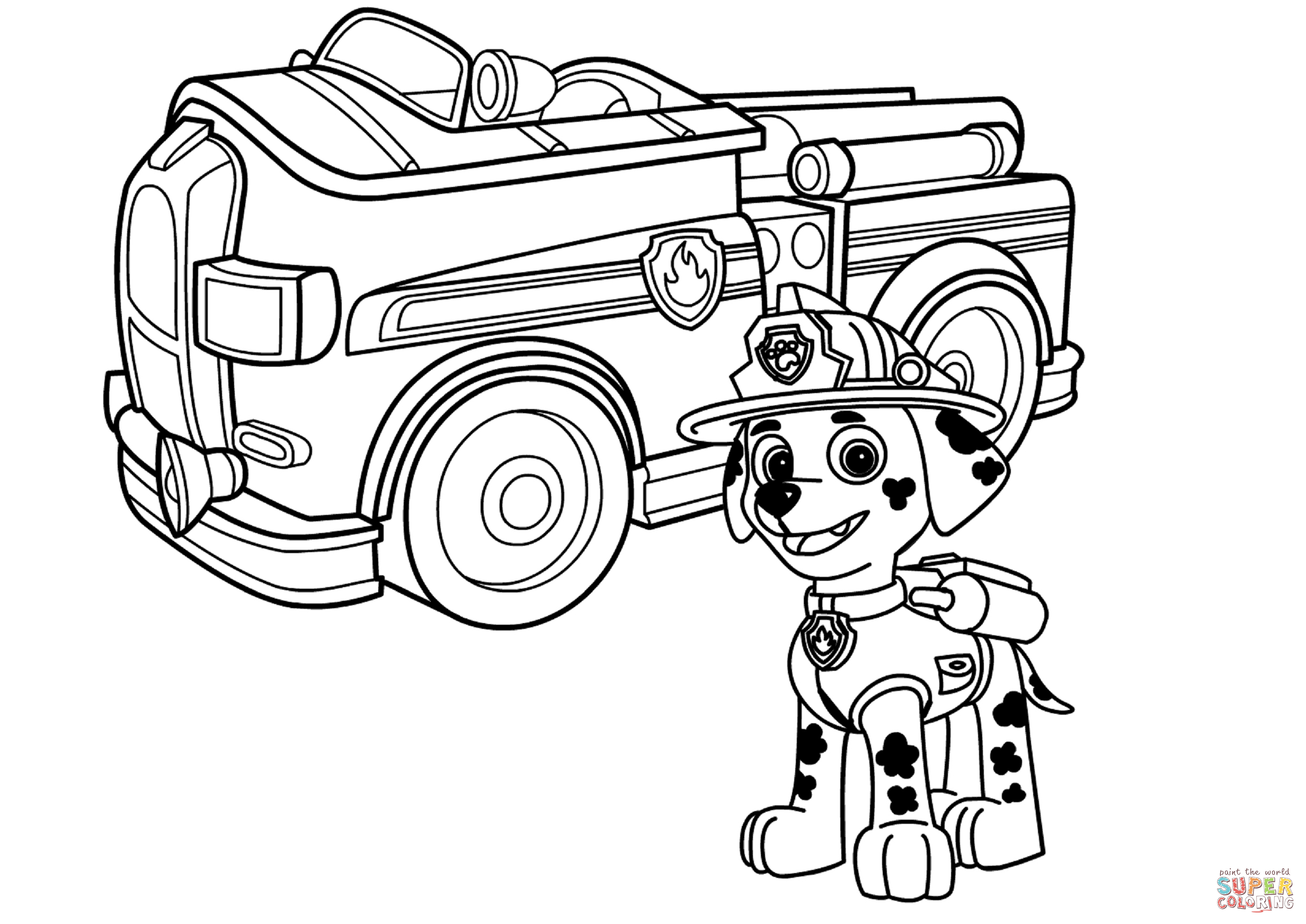 paw patrol truck paw patrol rubble39s bulldozer coloring page free paw patrol truck