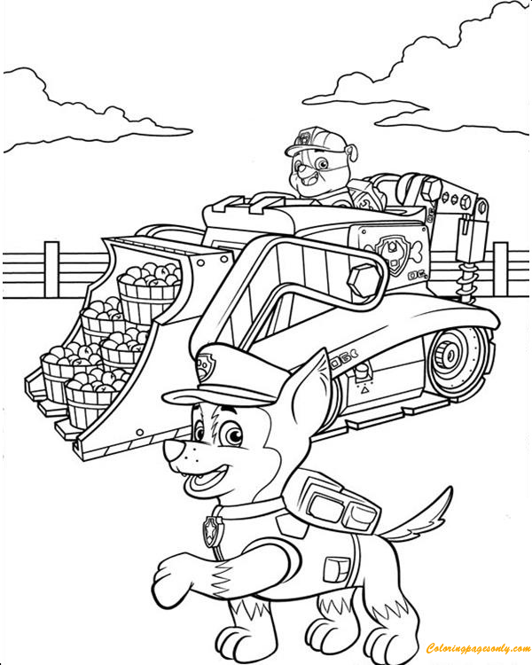 paw patrol truck rubble on his construction truck and chase paw patrol patrol truck paw