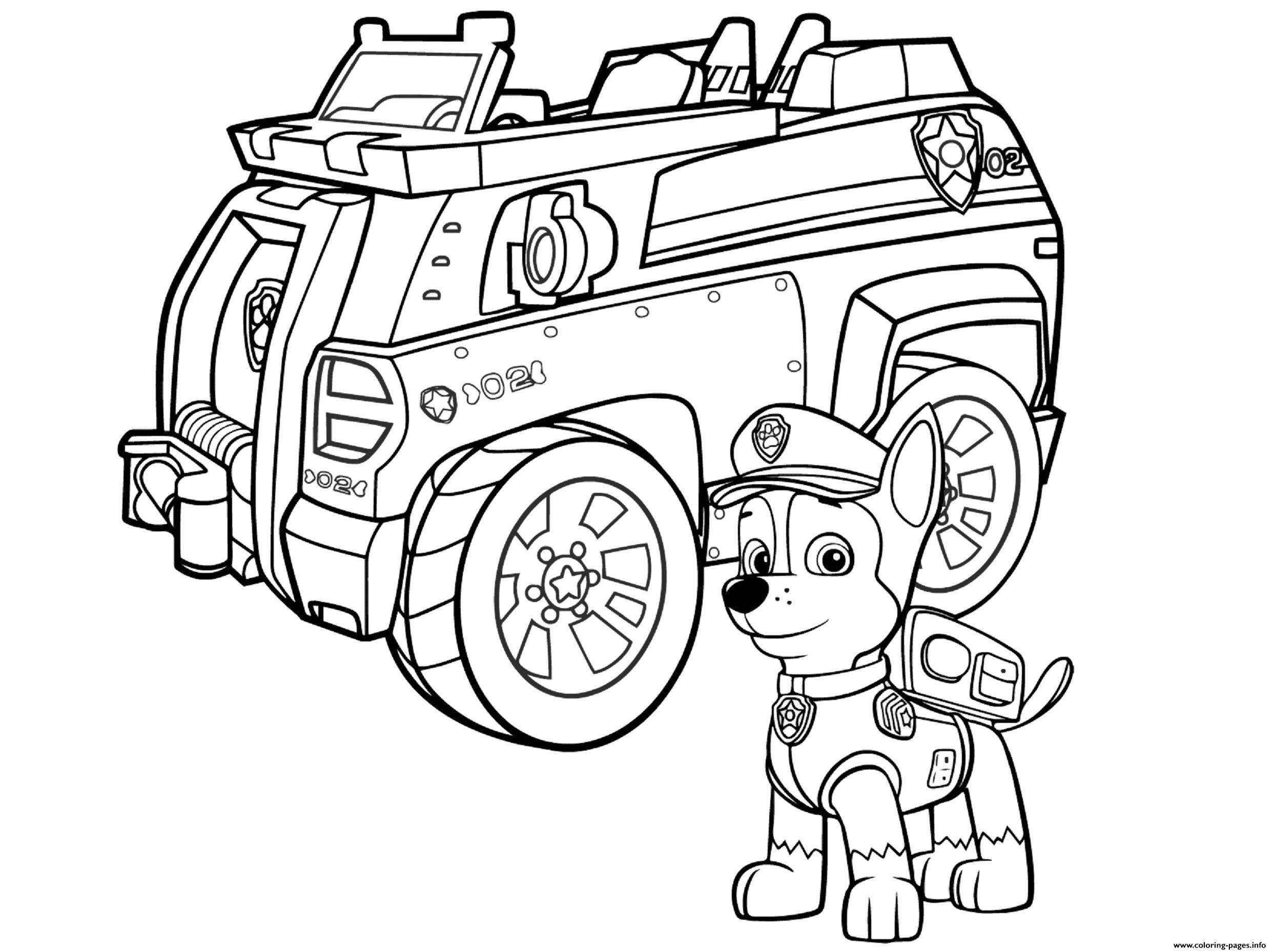 paw patrol truck ryhmä haun rekun kierrätysrekka värityskuva paw truck patrol