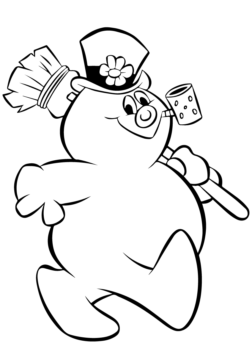 picture of frosty the snowman frosty the snowman coloring page free printable coloring snowman frosty of the picture