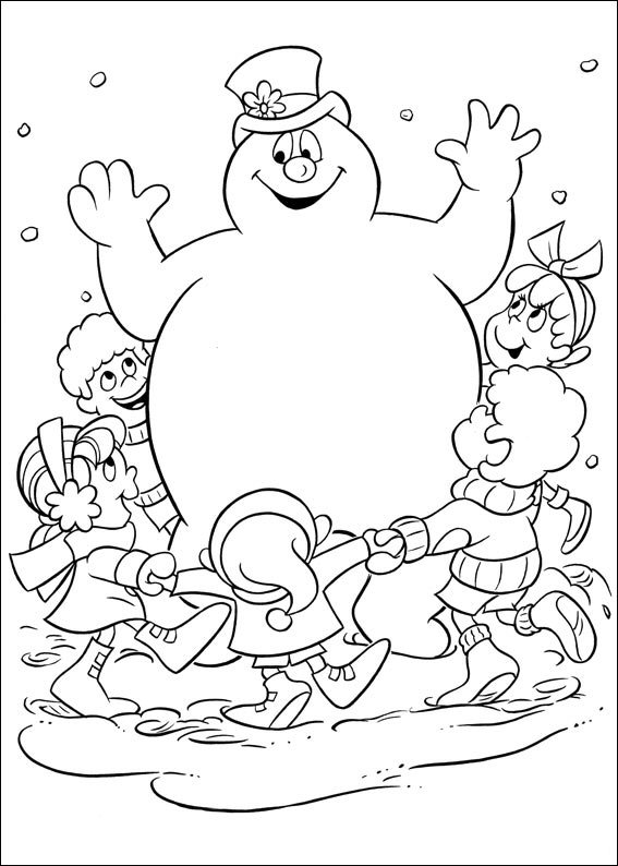 picture of frosty the snowman kids n funcom 24 coloring pages of frosty the snowman snowman frosty picture of the