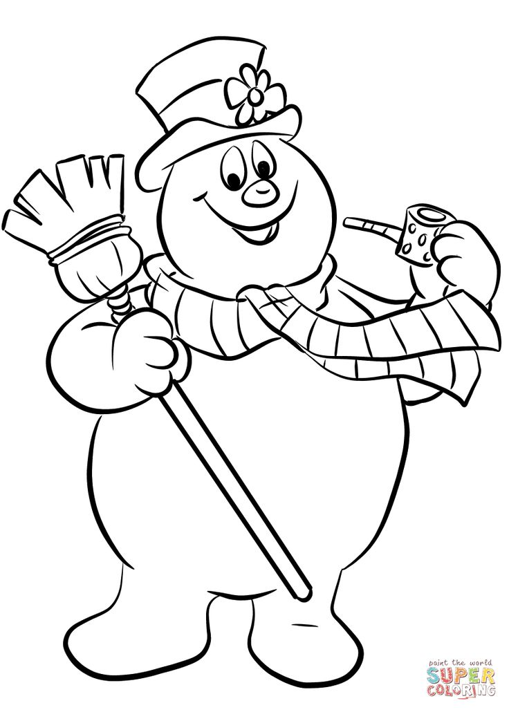 picture of frosty the snowman lyontarotden frosty the snowman coloring page the snowman picture of frosty