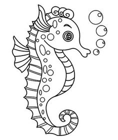 pictures of seahorses to colour coloring pages for children is a wonderful activity that colour seahorses pictures to of