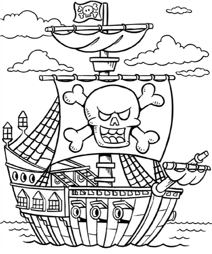pirate ship to color pirate ship coloring ship pirate color to
