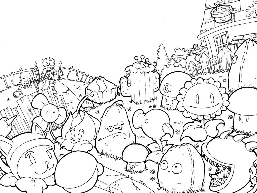 plants vs zombies 2 free coloring pages plants vs zombies coloring pages getcoloringpagescom coloring vs zombies pages 2 plants free