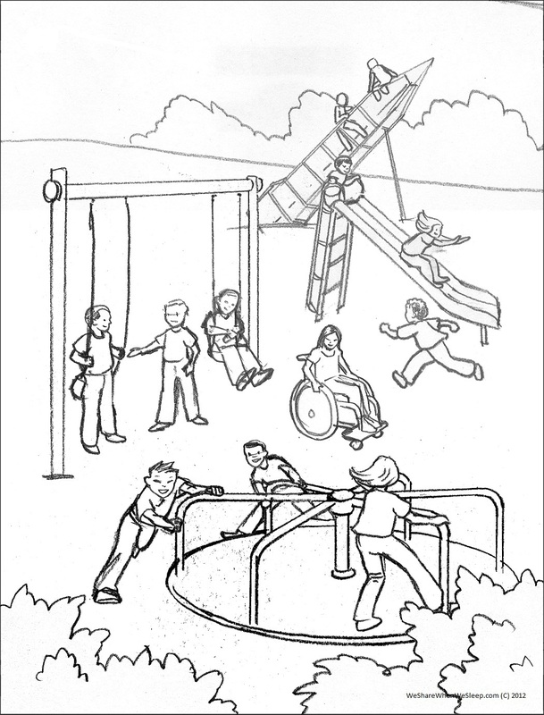 playground coloring pages kids playing at the playground coloring vector stock coloring playground pages