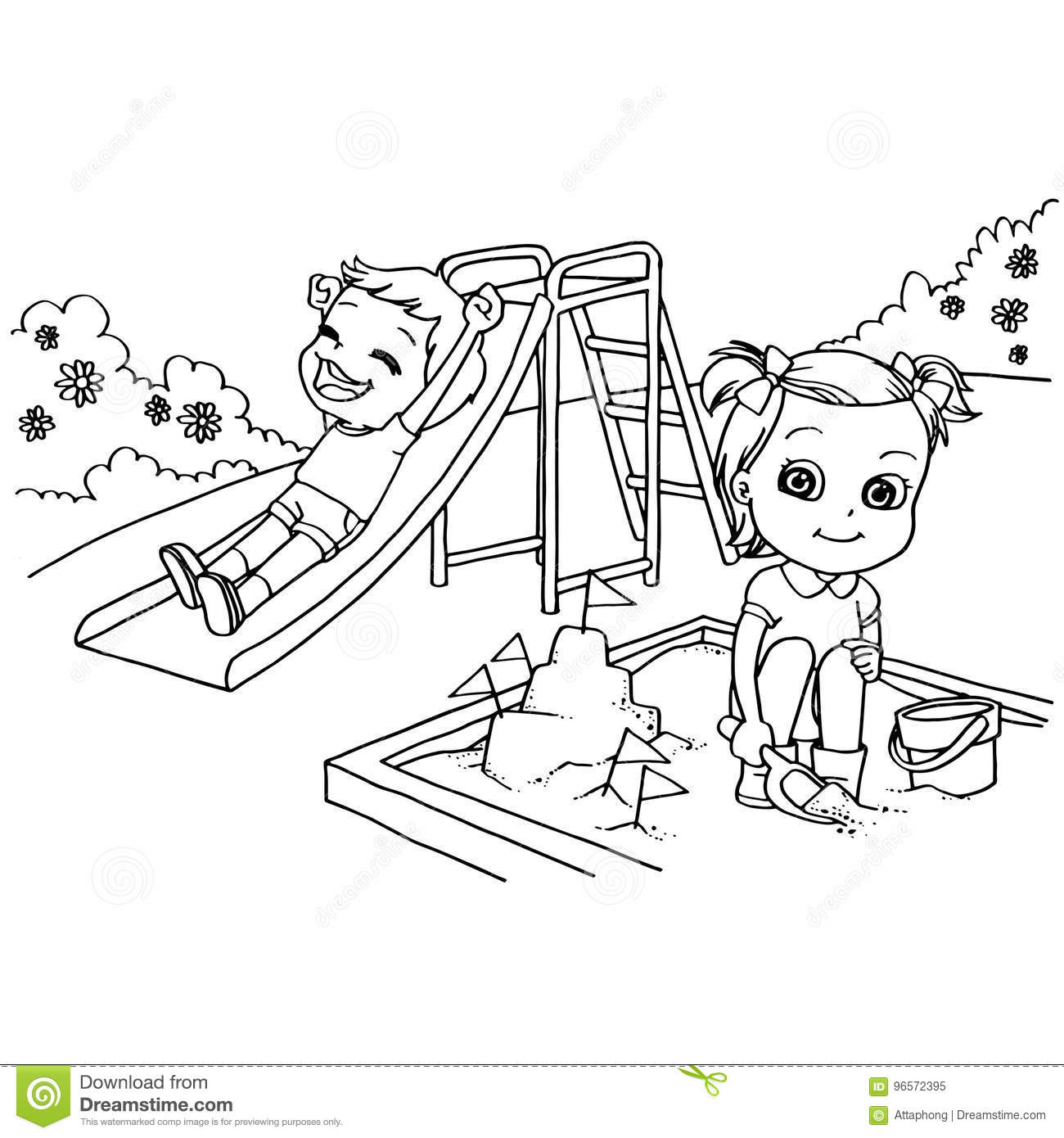 playground coloring pages school yard playground free coloring pages for kids playground coloring pages