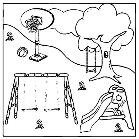 playground coloring pages the images collection of scene playground equipment pages coloring playground