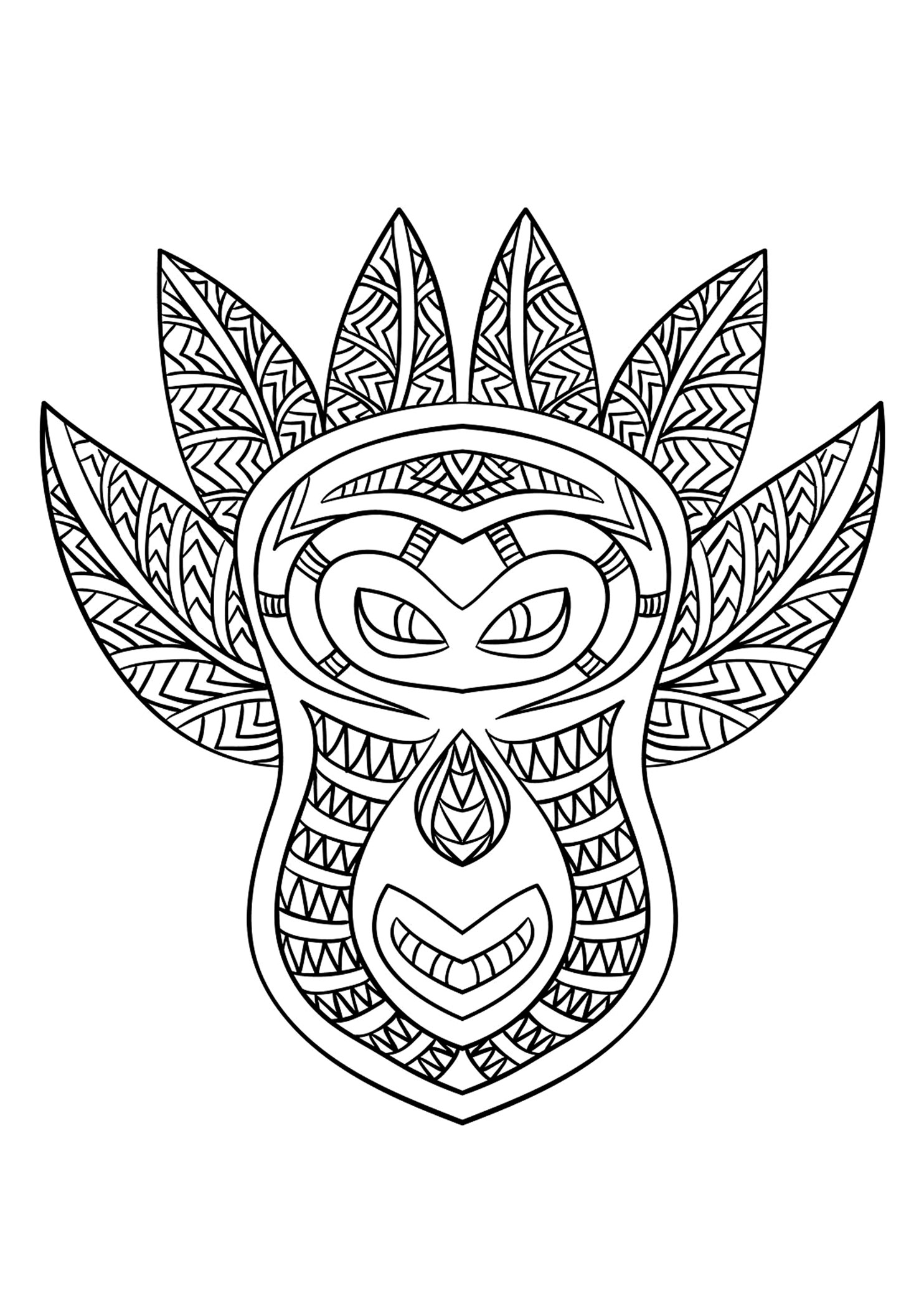 printable african masks coloring pages african mask 2 africa adult coloring pages page 2 pages masks coloring printable african
