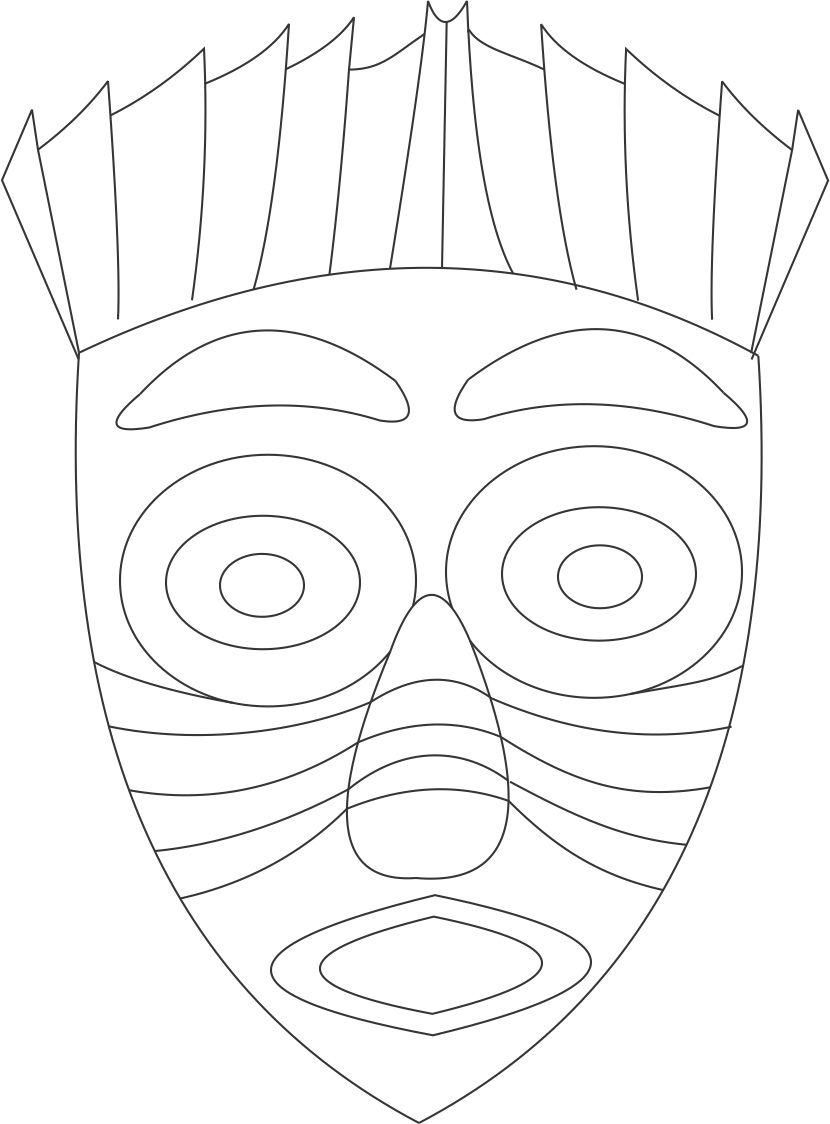 printable african masks coloring pages african mask coloring page african masks african art masks pages printable african coloring