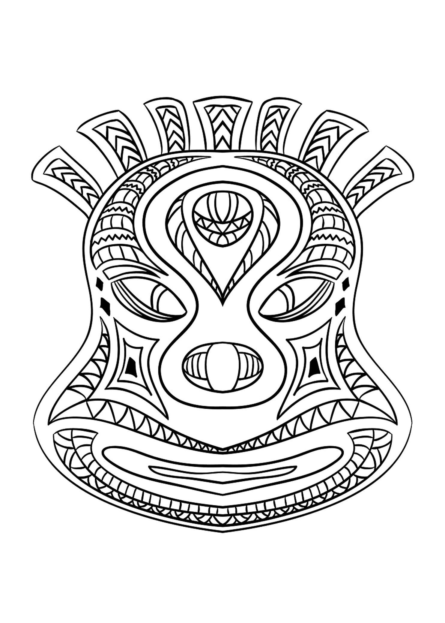 printable african masks coloring pages african mask coloring page coloring home african coloring printable masks pages