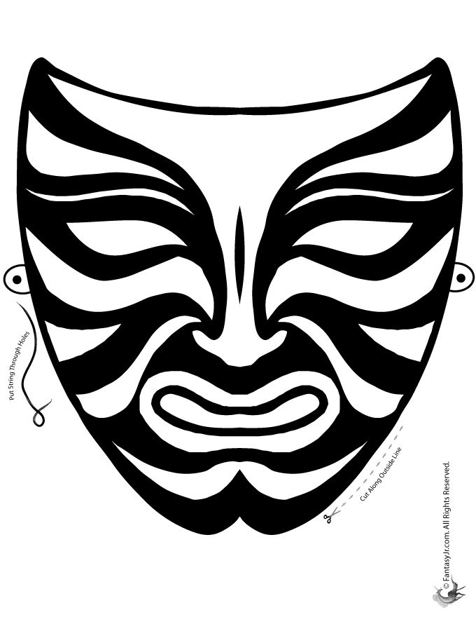 printable african masks coloring pages african mask coloring page coloring home coloring african pages masks printable