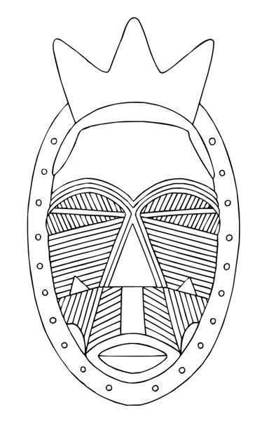 printable african masks coloring pages african masks templates to colour google search vbs pages african coloring printable masks