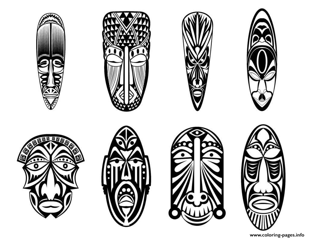 printable african masks coloring pages african wooden mask coloring page free printable pages printable coloring african masks