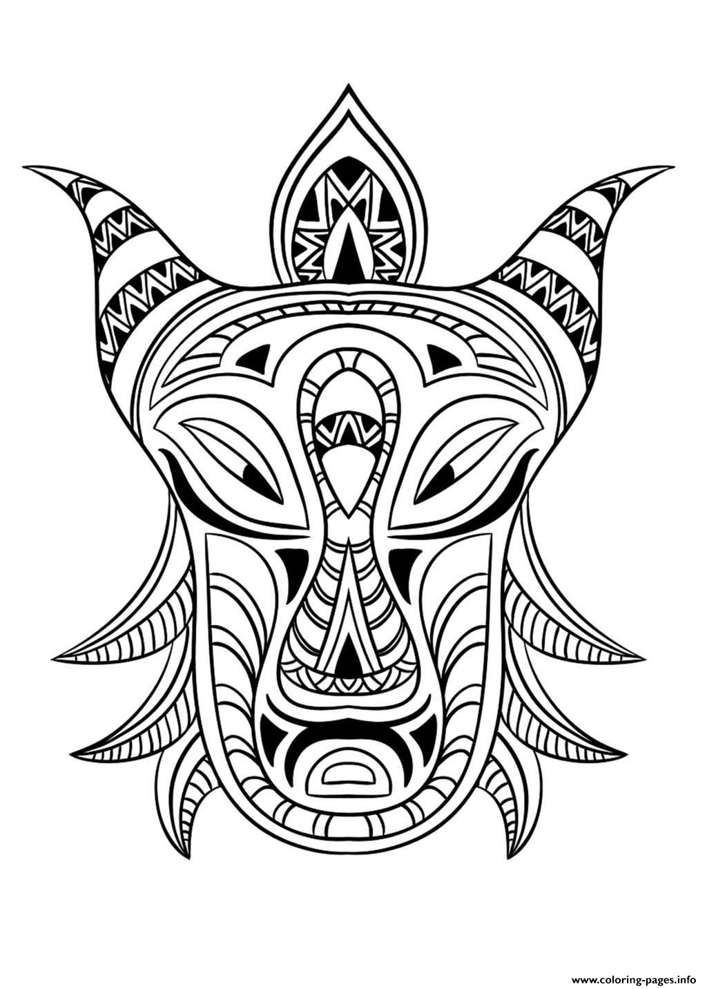 printable african masks coloring pages free coloring page coloring adult african mask 4 coloring coloring masks african pages printable