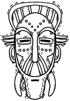 printable african masks coloring pages textures with prills in an african mask create n craft pages african printable coloring masks