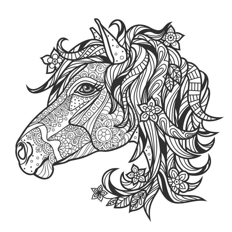 printable coloring pages for older kids coloring anti stress with a portrait of a horse stock kids for older pages coloring printable