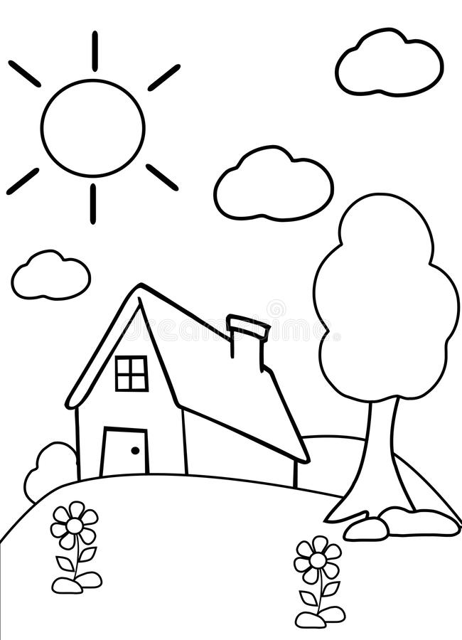 printable coloring pages to learn colors color the house stock photo illustration of garden black to learn printable colors coloring pages