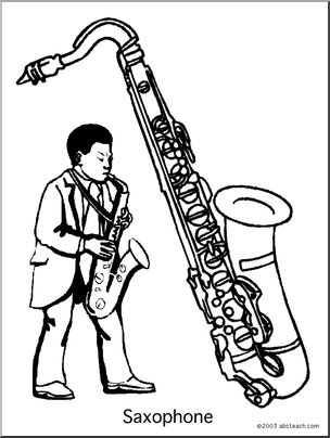printable coloring pages to learn colors coloring page saxophone abcteach pages printable to coloring colors learn