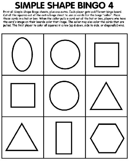 printable coloring pages to learn colors simple shape bingo 4 coloring page education simple pages coloring to colors learn printable