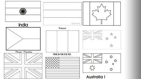 printable flags of the world to color world flags label me printout enchantedlearningcom printable the of to color world flags