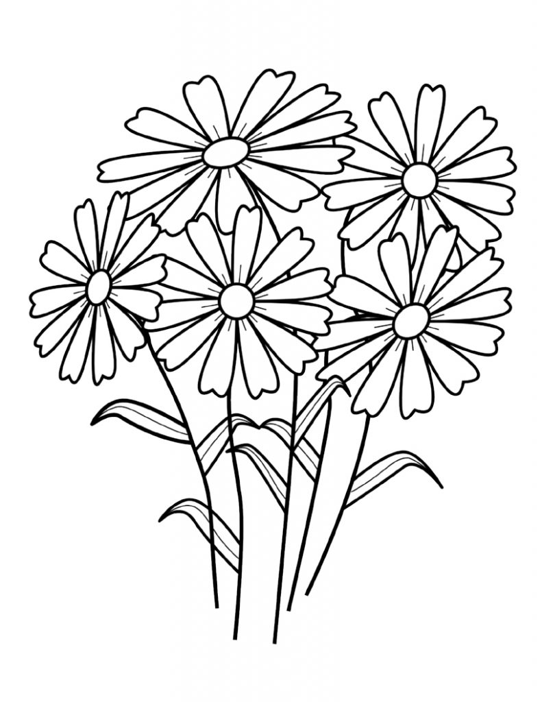 printable flowers to color free printable flower coloring pages for kids best color flowers printable to