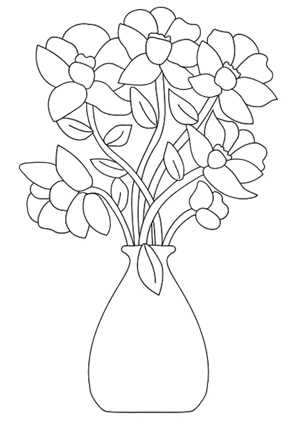 printable flowers to color free printable flower coloring pages for kids best color flowers to printable