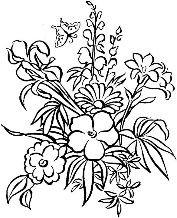 printable flowers to color free printable flower coloring pages for kids cool2bkids color to printable flowers