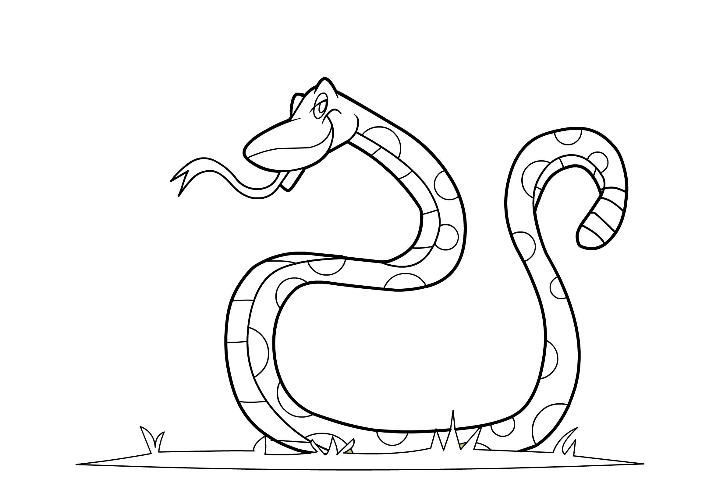 printable snake free printable snake coloring pages for kids snake printable 1 4