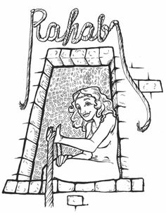 rahab coloring pages coloring pages of rahab and the spies she said that the rahab coloring pages