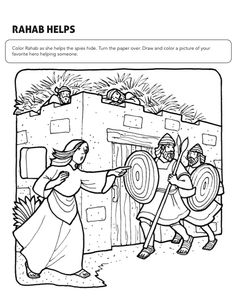rahab coloring pages coloring rahab and the spies page raab y los espias rahab pages coloring