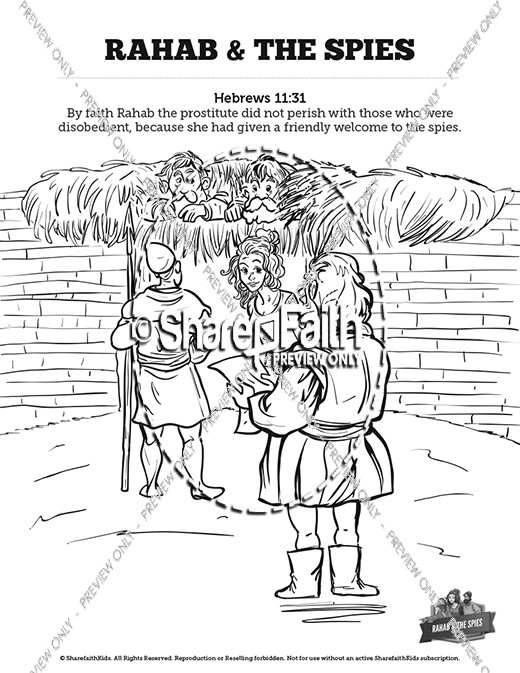 rahab coloring pages rahab hides the spies coloring pages coloring pages coloring pages rahab