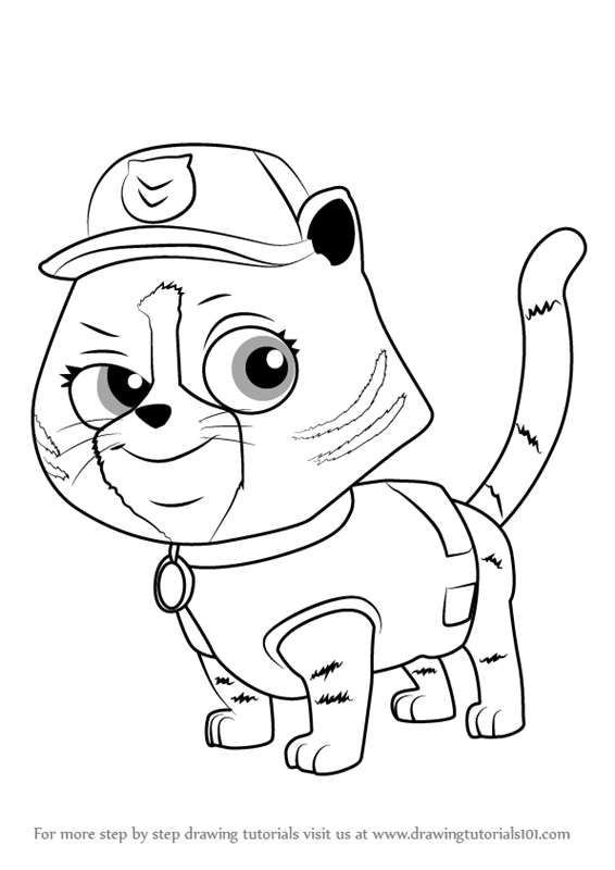 rocky paw patrol how to draw rocky paw patrol step by step drawing paw rocky patrol
