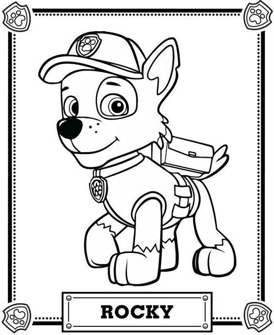 rocky paw patrol mrocky from paw patrol head coloring pagesh coloring pages rocky paw patrol