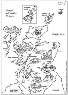 scotland colouring pages 77 best colouring fiend39s friend printables images on scotland colouring pages