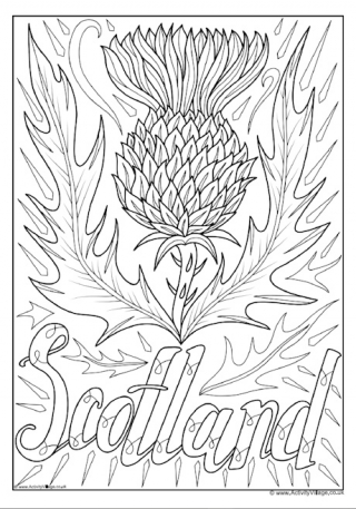 scotland colouring pages the thistle of scotland coloring page free printable pages colouring scotland